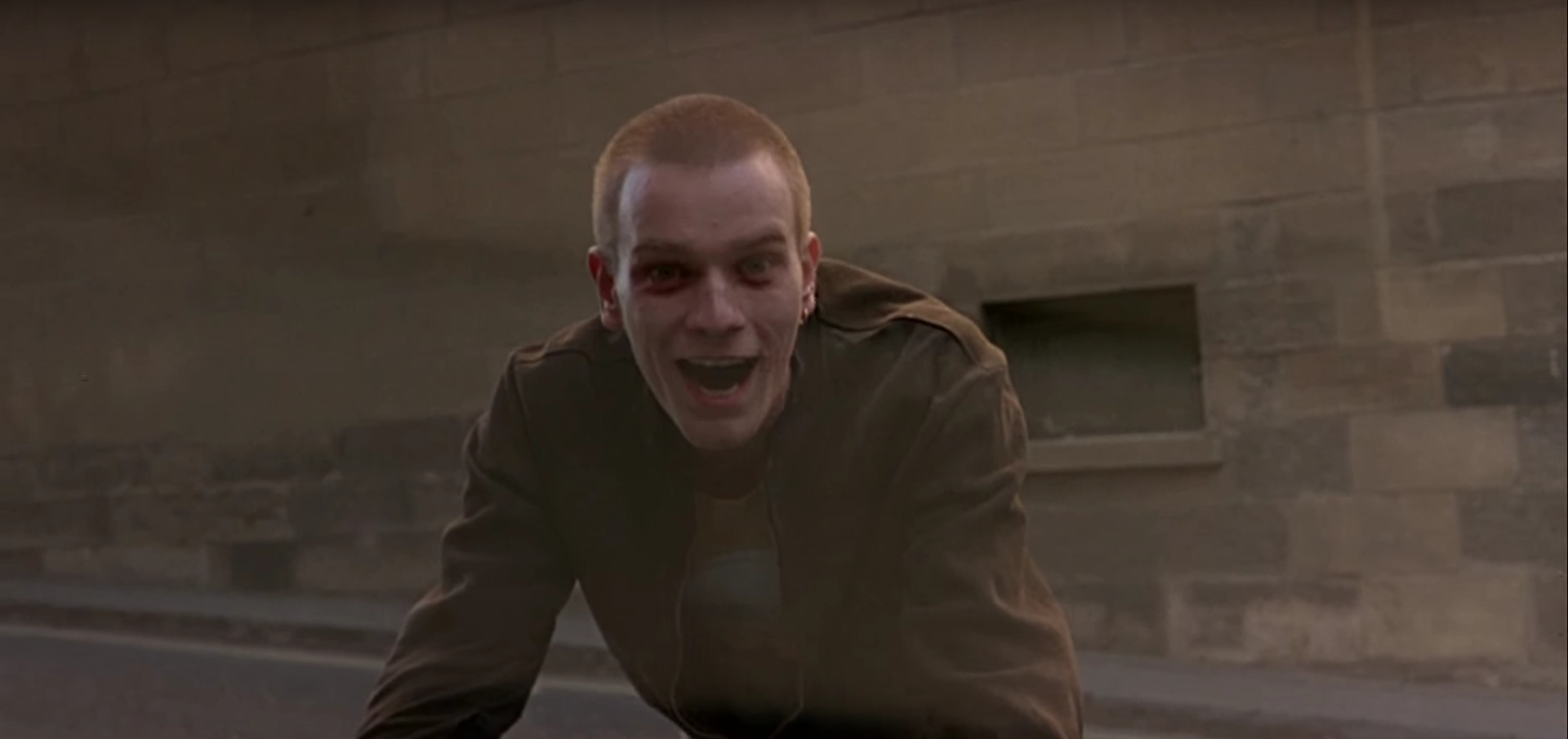 "Ewan McGregor als Renton in ""Trainspotting"""