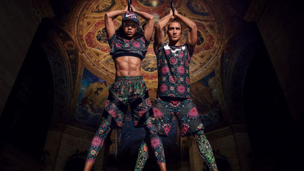 Sanya Richards-Ross, Sprint-Weltmeisterin, und Ashton Eaton, Leichtathlet-Talent, in den neuen Workout-Klamotten von NikeLab