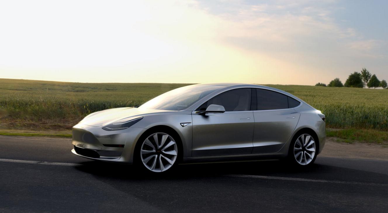 Der neue Tesla Model 3.