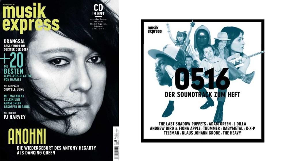 So sieht die Mai-Ausgabe des Musikexpress aus, mit Anohni und vielen anderen Themen.