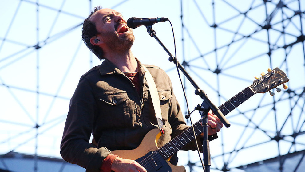 BROOKLYN, NY - MAY 26:  Singer James Mercer of The Shins performs at Williamsburg Park on May 26, 2013 in Brooklyn, New York.
