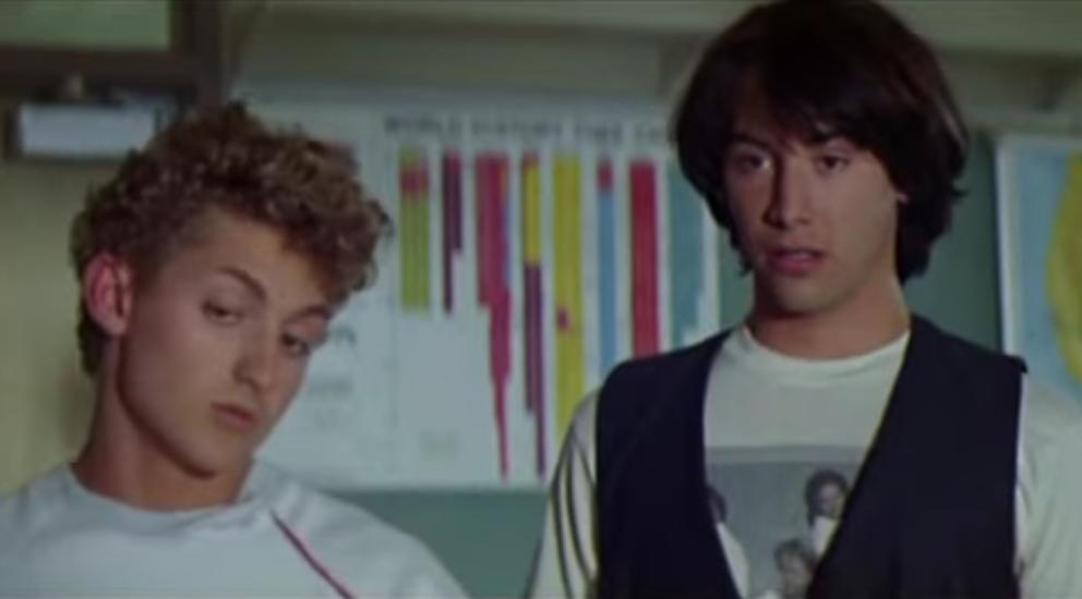 """Alex Winter und Keanu Reeves als """"Bill & Ted""""."""