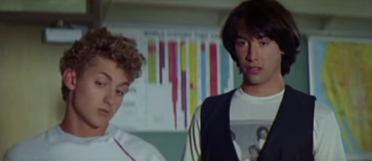 "Alex Winter und Keanu Reeves als ""Bill & Ted""."