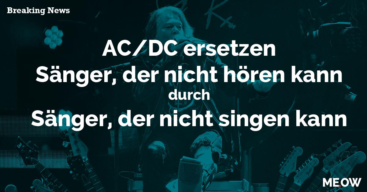 Was das Internet vom neuen AC/DC-Sänger hält