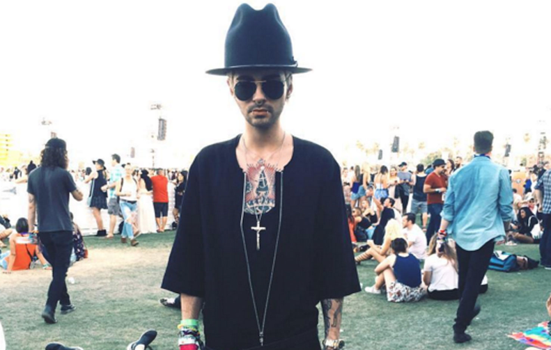 Geklaut: Bill Kaulitz im Pharell-Look beim Coachella-Festival