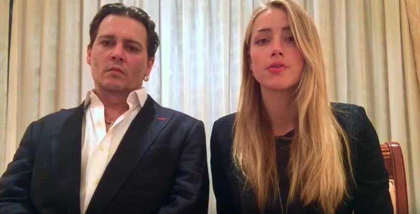 Wirken wie Geiseln: Johnny Depp und Amber Heard.
