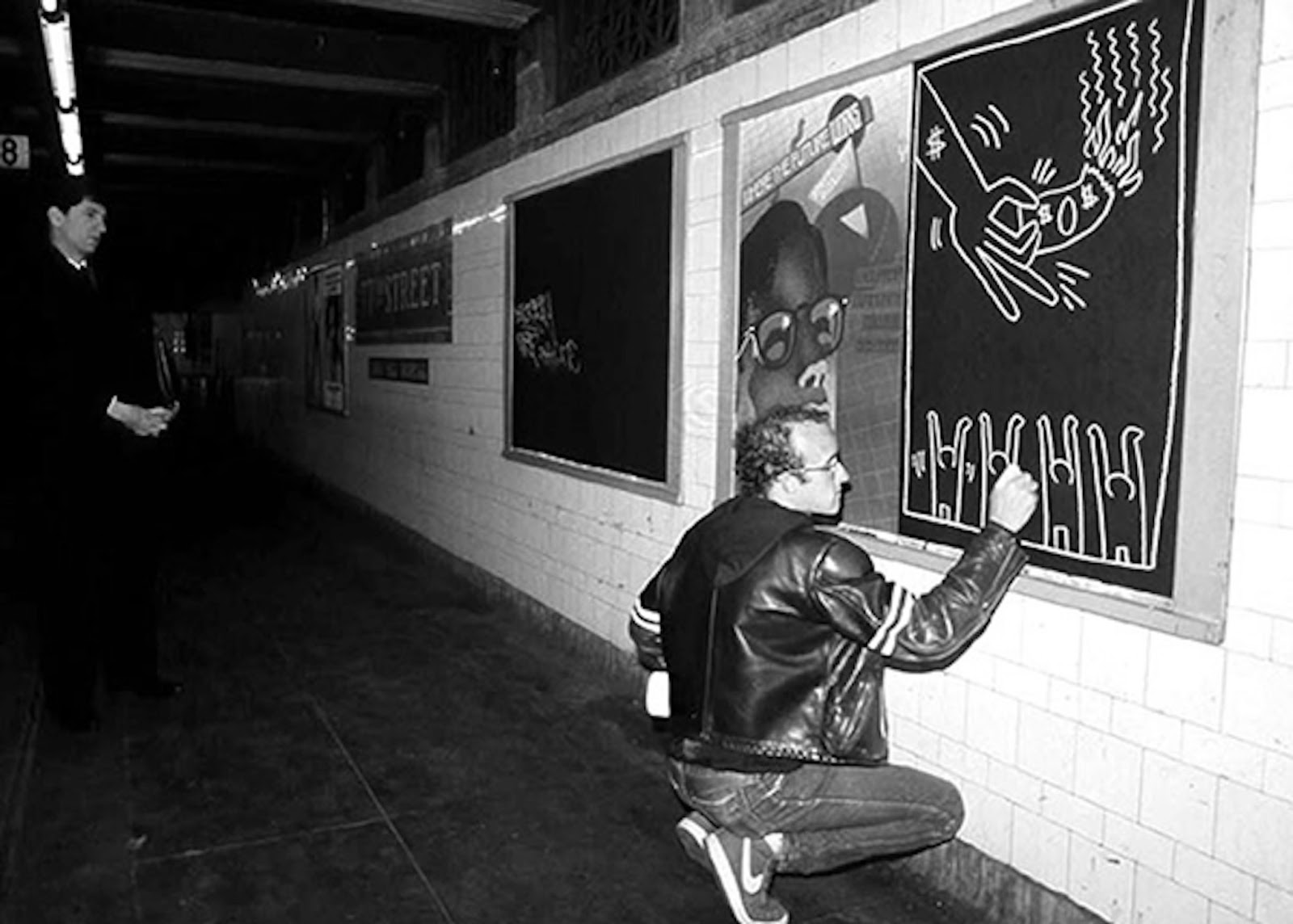 Video: Illegale Subway-Kunst mit Keith Haring im New York ...
