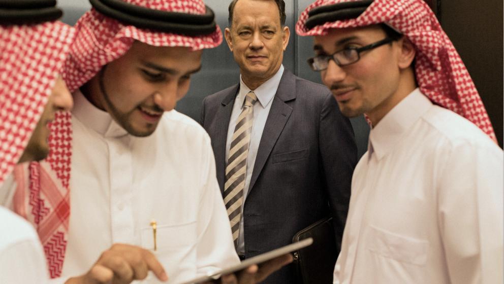 Wie in einer anderen Welt: Tom Hanks sucht den Erfolg in Saudi-Arabien.