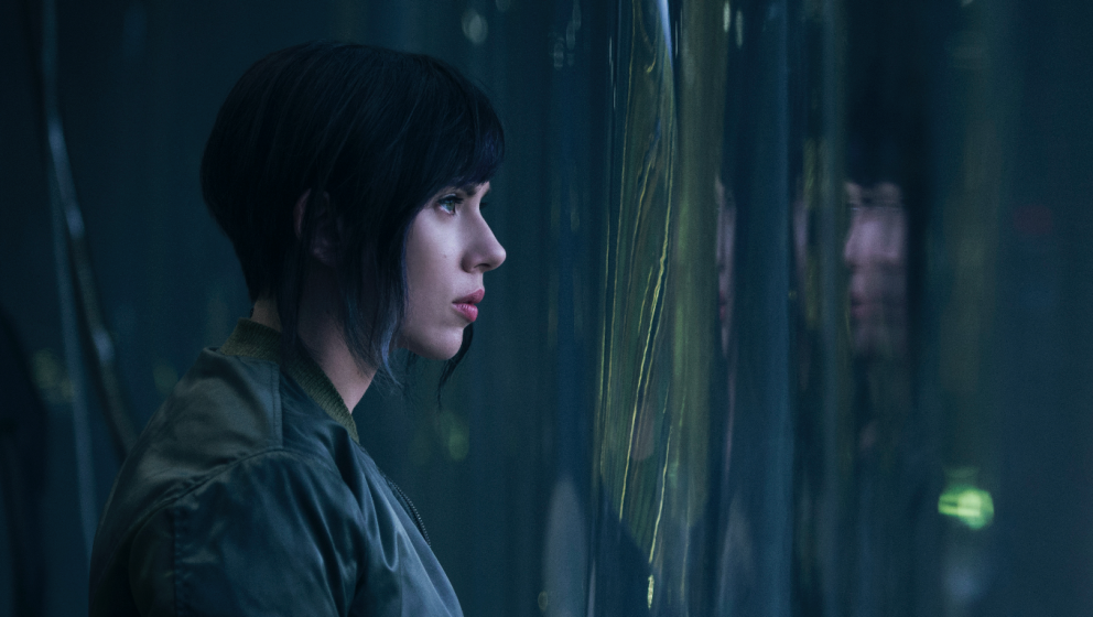 "Scarlett Johansson als Motoko Kusanagi in ""Ghost in the Shell"""