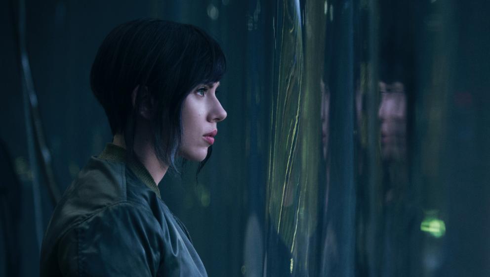 "Scarlett Johansson als Motoko Kusanagi in ""Ghost in the Shell"""