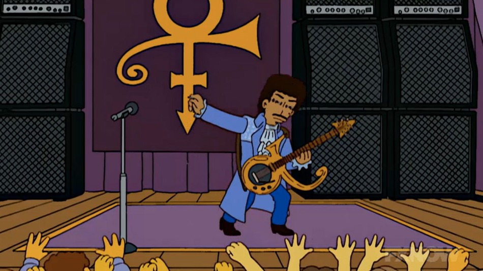 "Prince in der Simpsons-Halloween-Folge ""Treehouse Of Horror XIX"""