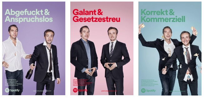 Werbeposter von Spotify mit Jan Böhmermann und Olli Schulz