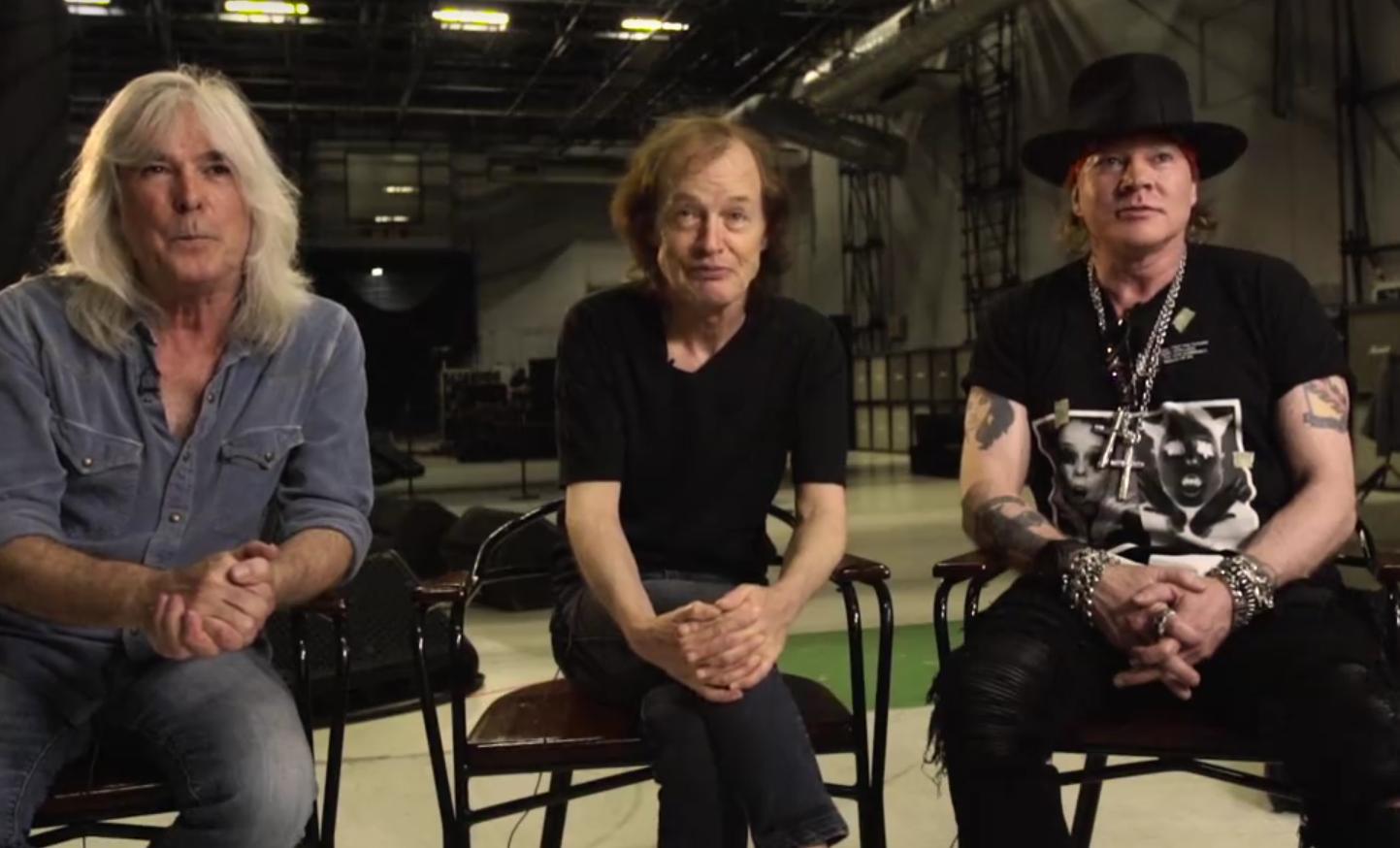 Cliff Williams, Angus Young und Axl Rose haben sich mit einem Video bei ihren Fans gemeldet.