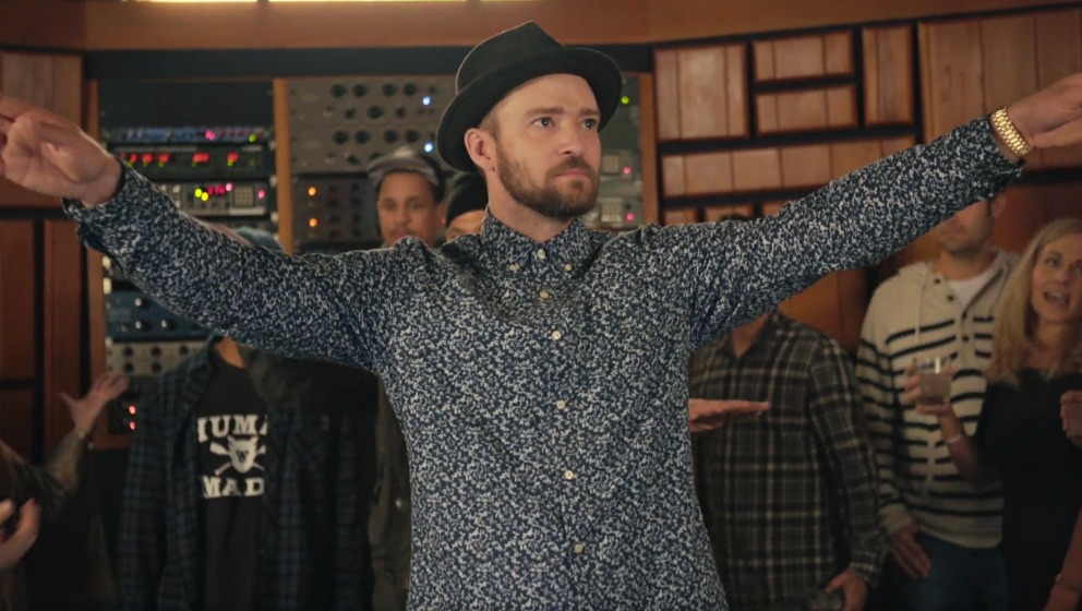 "Justin Timberlake bei seiner Listening-Session zu ""Can't Stop The Feeling""."
