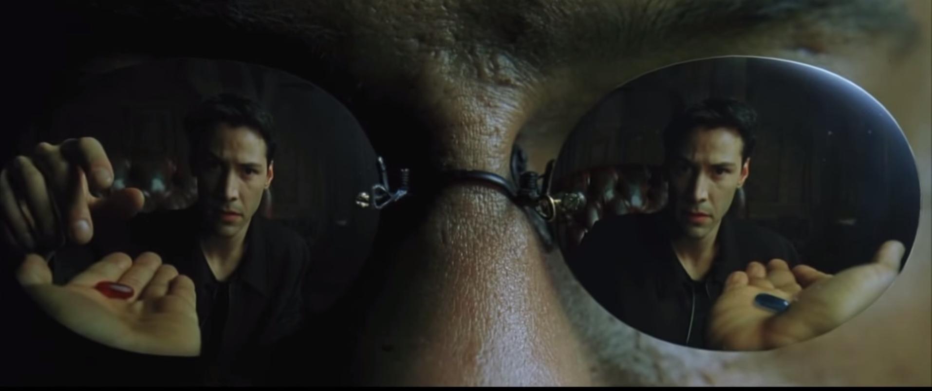 """In """"Matrix"""" nimmt Keanu Reeves sogar Pillen von Fremden an. In Wirklichkeit ruft er lieber die Cops."""