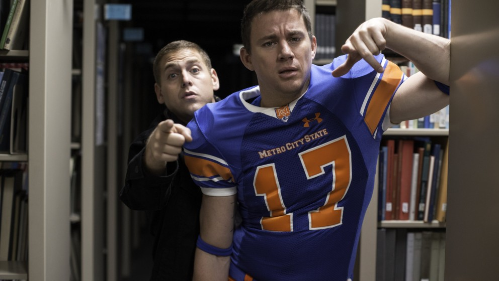 Jonah Hill, left, and Channing Tatum in Columbia Pictures' '22 Jump Street.'