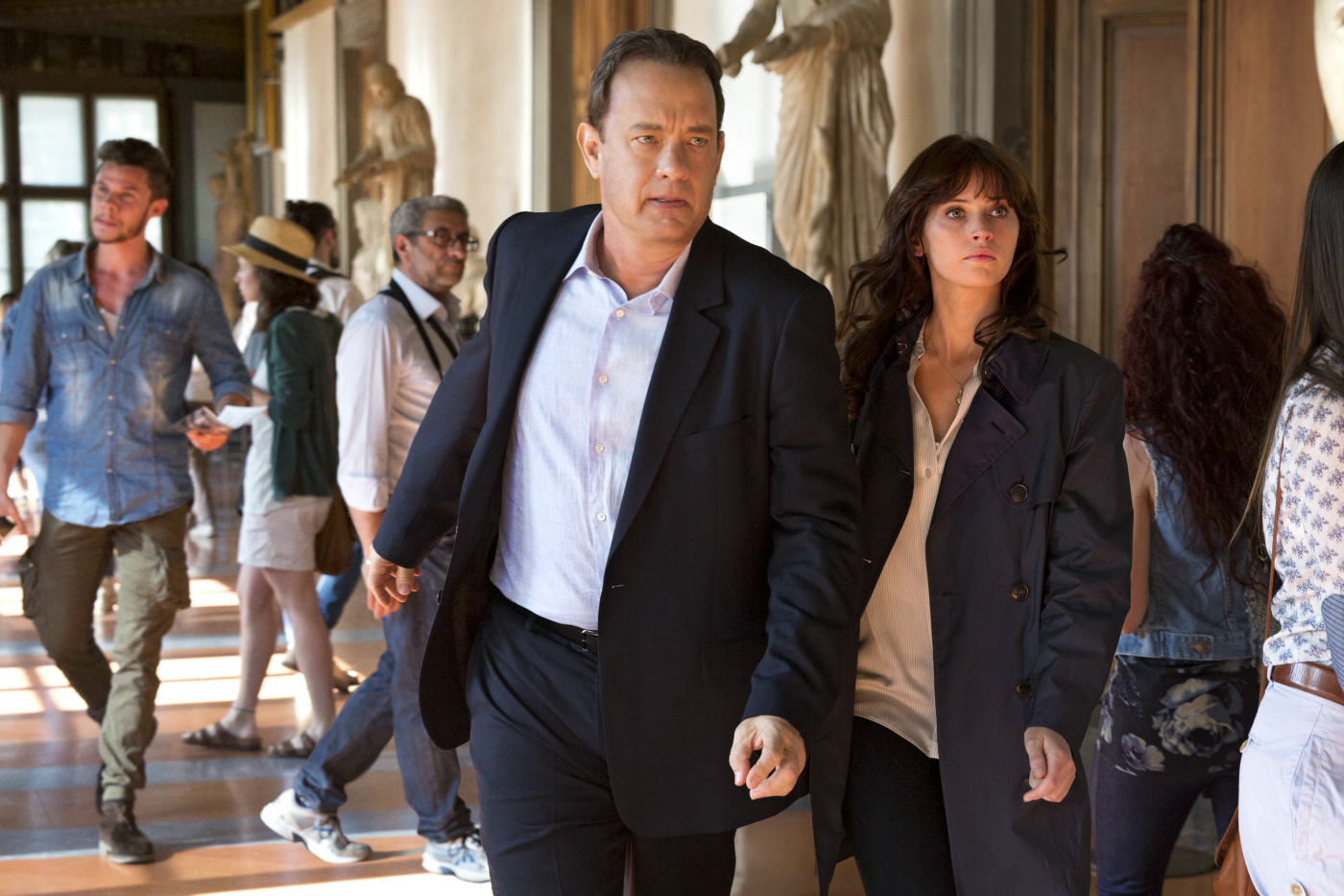 "Tom Hanks und Felicity Jones in ""Inferno""."