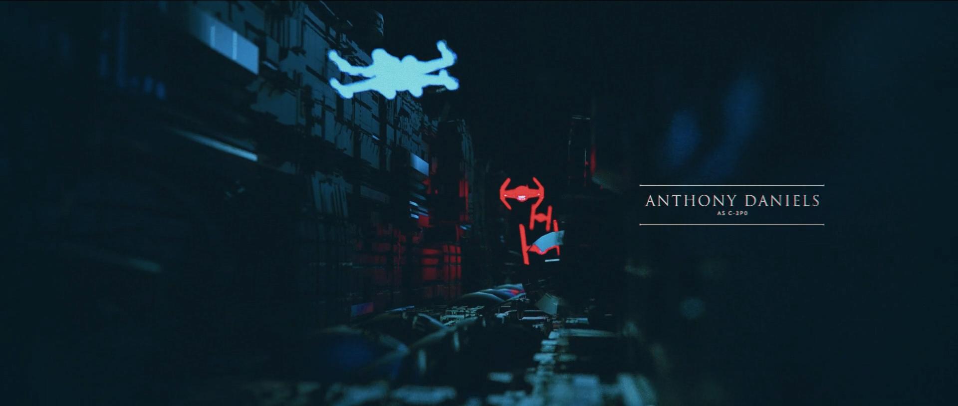 X-Wing und Tie-Fighter – Der Student hat sich beim Animieren außerordentliche Mühe gegeben