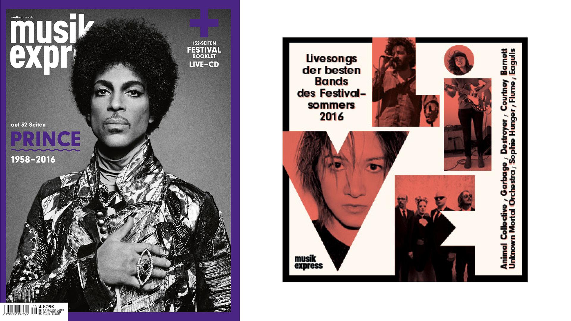 Die Juni-Ausgabe des Musikexpress - mit 32 Seiten Prince.