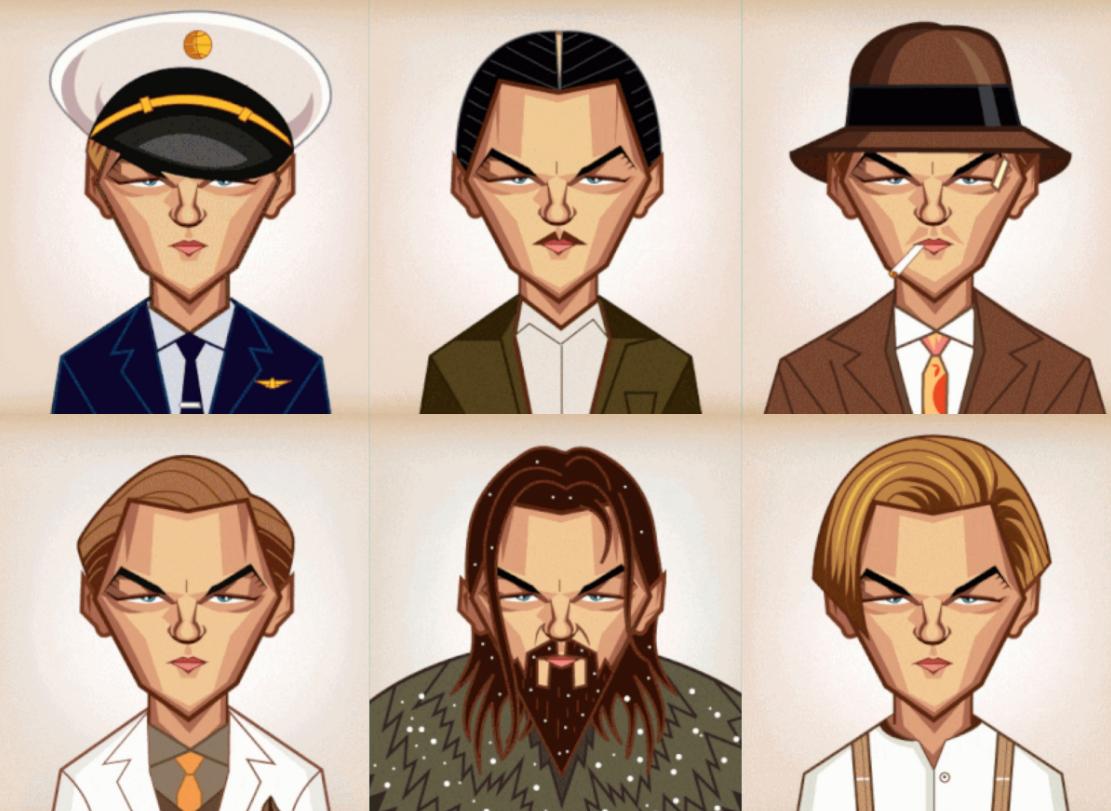 Leonardo DiCaprio im Wandel der Zeit.