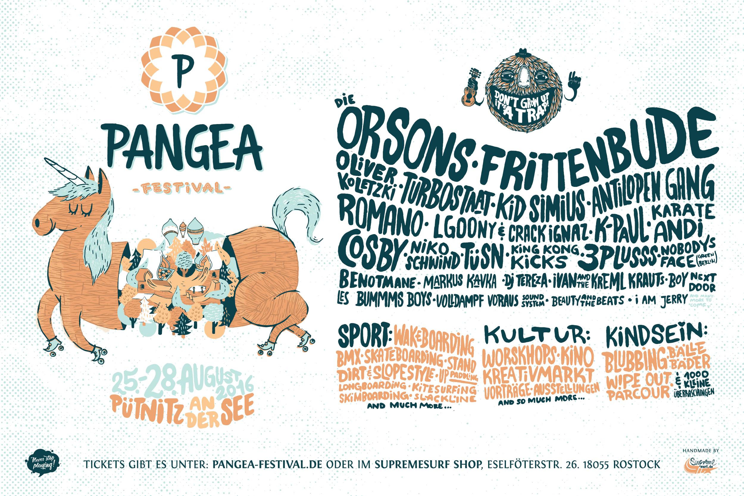 Das Pangea Festival 2016 findet vom 25. bis zum 28. August statt.