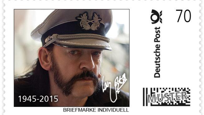 Lemmy Kilmister macht auch auf einer Briefmarke etwas her.