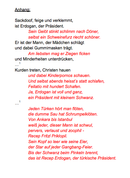 Jan Böhmermann Gedicht