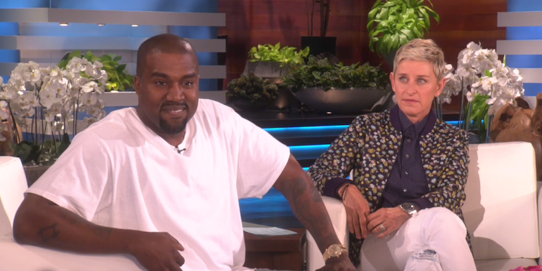 We feel you, Ellen: Kanye West war wieder einmal in Redelaune.