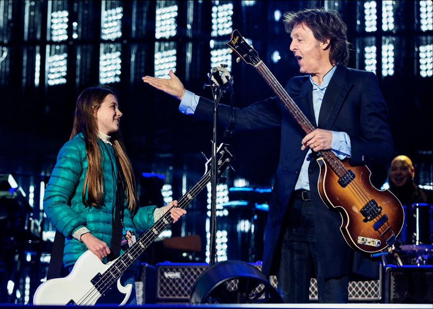 """Paul McCartney spielte mit der zehnjährigen Leila """"Get Back"""""""