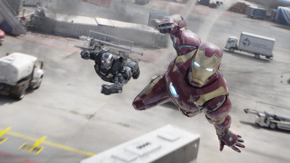 Marvel's Captain America: Civil WarL to R: War Machine/James Rhodes (Don Cheadle) and Iron Man/Tony Stark (Robert Downey Jr