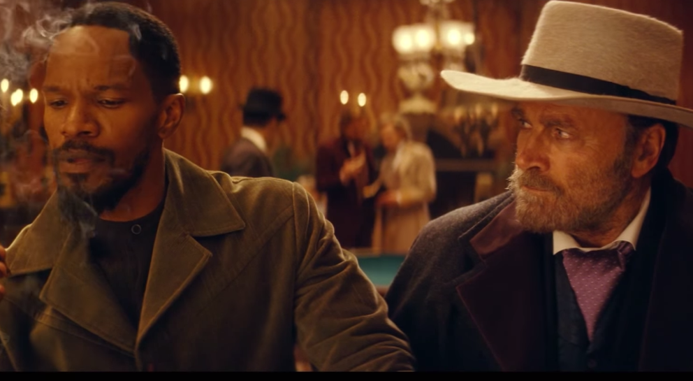 """In Quentin Tarantinos """"Django""""-Hommage traf Jamie Foxx auf den """"echten"""" Django, Franco Nero (r.)."""