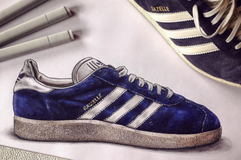 """Legt Schuh Modell Das Sneaker """"gazelle AlertAdidas Trend PkOuXiZ"""