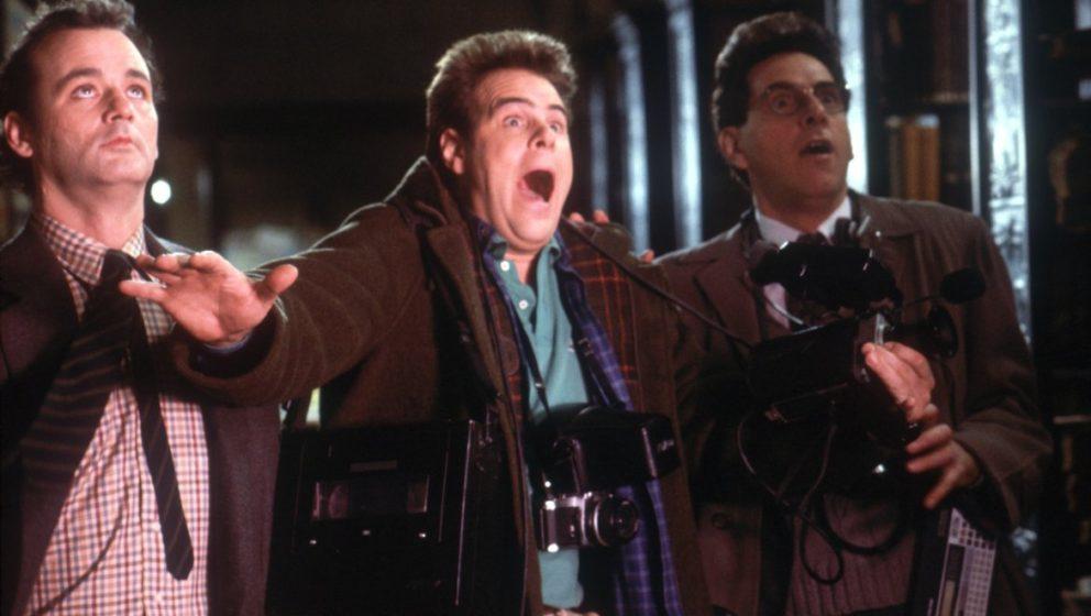 """Bill Murray, Dan Aykroyd und Harold Ramis (v.l.n.r.) im ersten """"Ghostbusters""""-Film."""