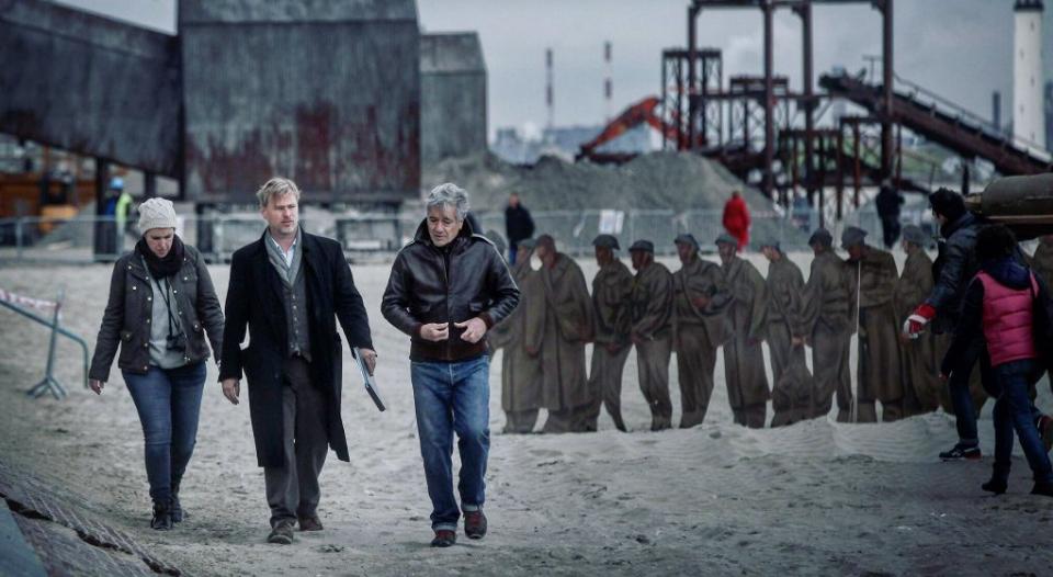 """Christopher Nolan am Set von """"Dunkirk""""."""