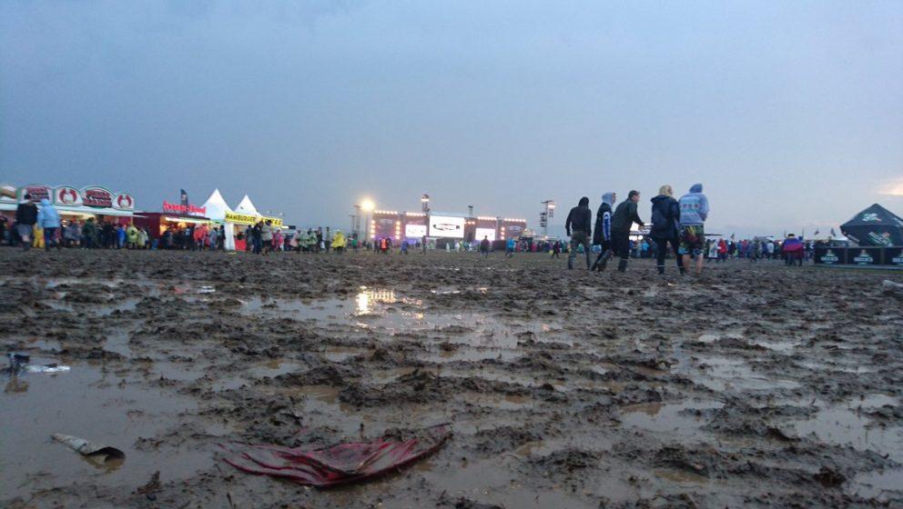 So sieht das Festivalgelände bei Rock am Ring gerade aus.