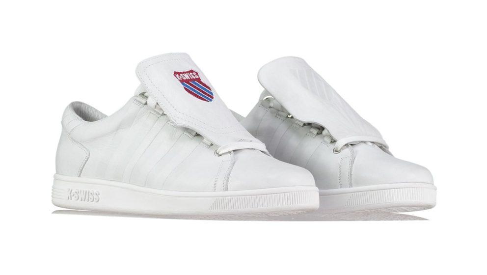 Wie der Name schon sagt: Man kann die Zunge des Sneakers drehen.