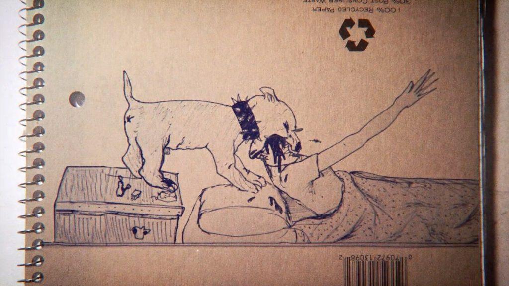 Viele von Cobains Zeichnungen zeigen einen morbiden Humor.