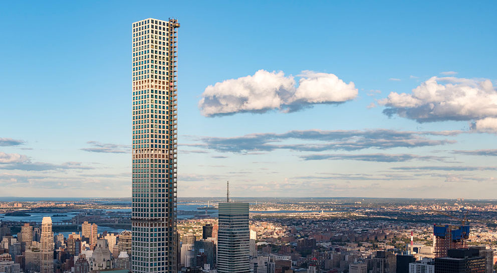 NEW YORK CITY, NEW YORK, UNITED STATES - 2015/10/16: New York tours and attractions: 432 Park Avenue building highlighting th