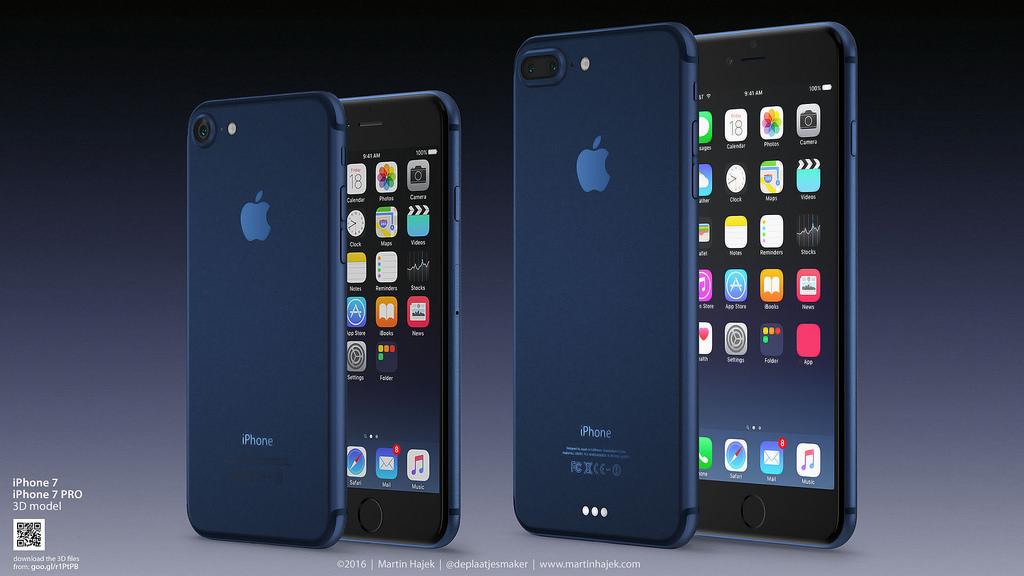 So könnte das neue iPhone 7 in Deep Blue aussehen.