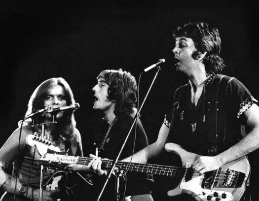 Henry McCullough, Denny Laine und Paul McCartney im Jahr