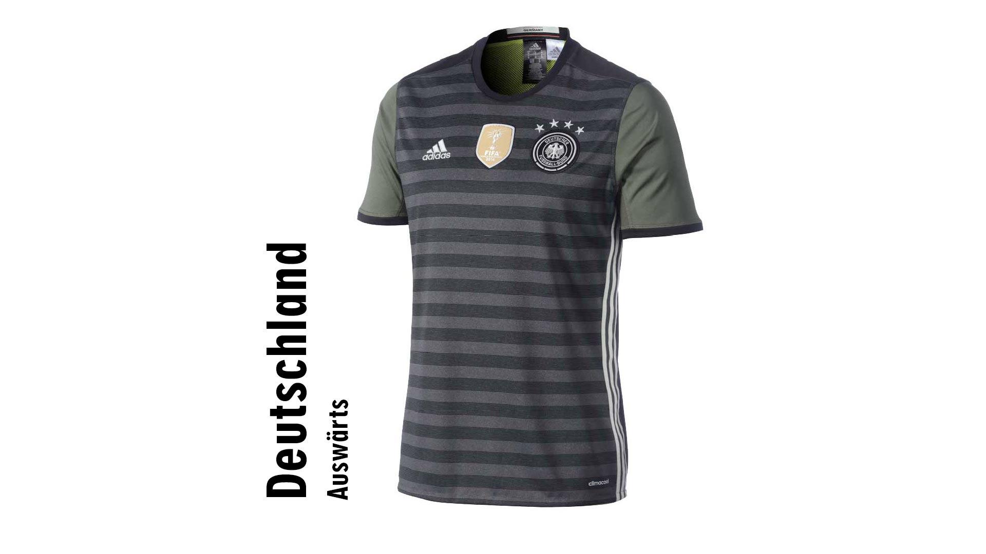 Das deutsche Auswärtstrikot hat es unter die 15 hässlichsten Leibchen der EM 2016 geschafft.