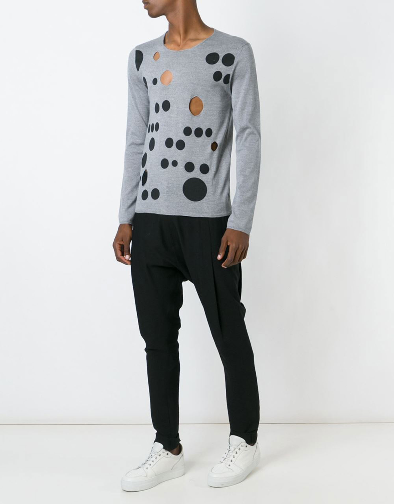 Trend-Lasercut-Herrenmode-Cut-Out-Fashion-Pullover-Cut-Outs