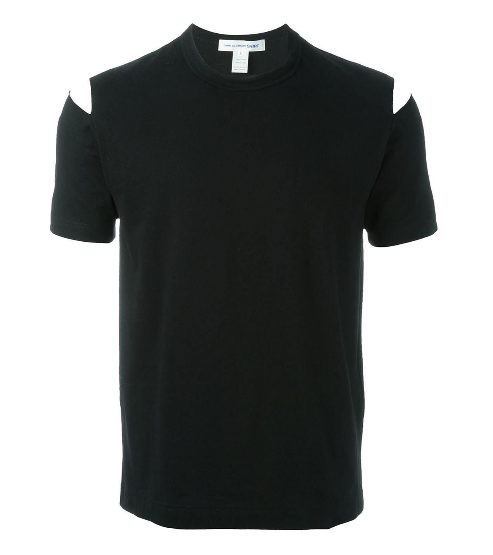 Trend-Lasercut-Herrenmode-Cut-Out-Fashion-T-Shirt-Comme-Des-Garcons