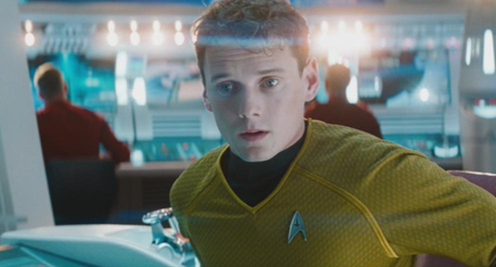 "Yelchin in ""Star Trek: Into Darkness""."