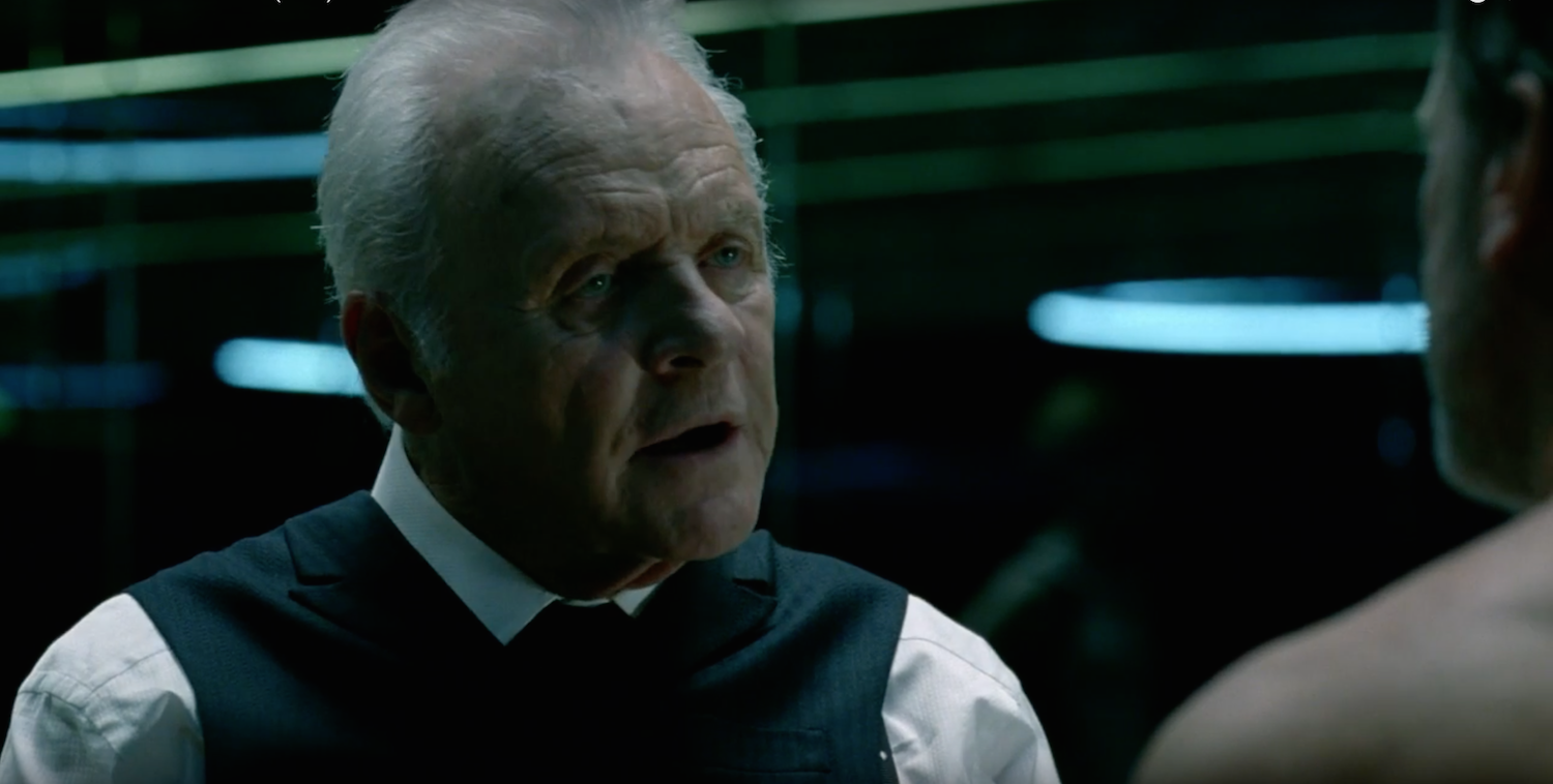 Anthony Hopkins als Dr. Robert Ford.