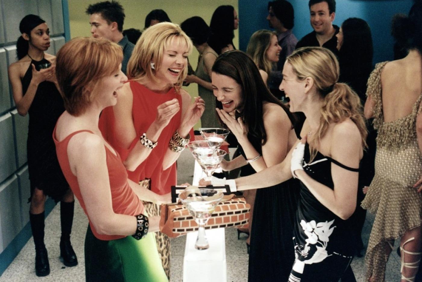 Gruppenfoto ohne Mann: Miranda, Samantha, Charlotte und Carrie. (v.l.)