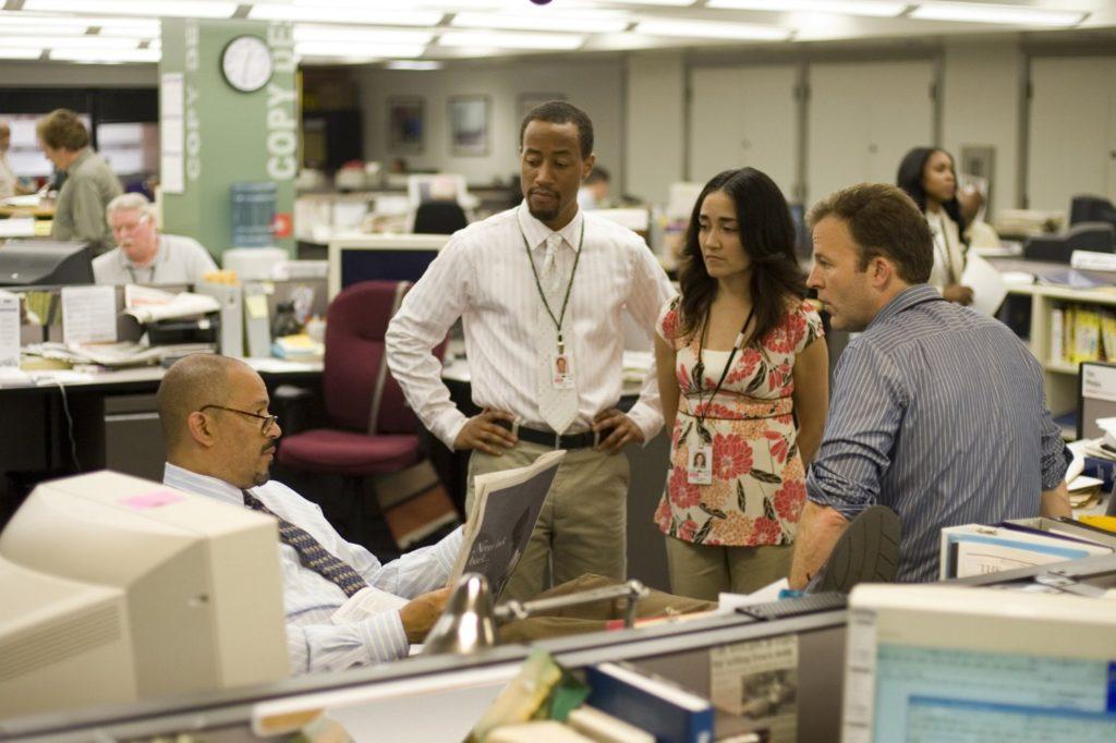 """Die Arbeit der Journalisten der Baltimore Sun ist auch Bestandteil des Gesellschaftsgemäldes, das """"The Wire"""" zeichnet."""