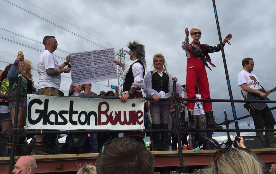 Die Glastonbowie-Bühne auf dem Glastonbury-Festival 2016.