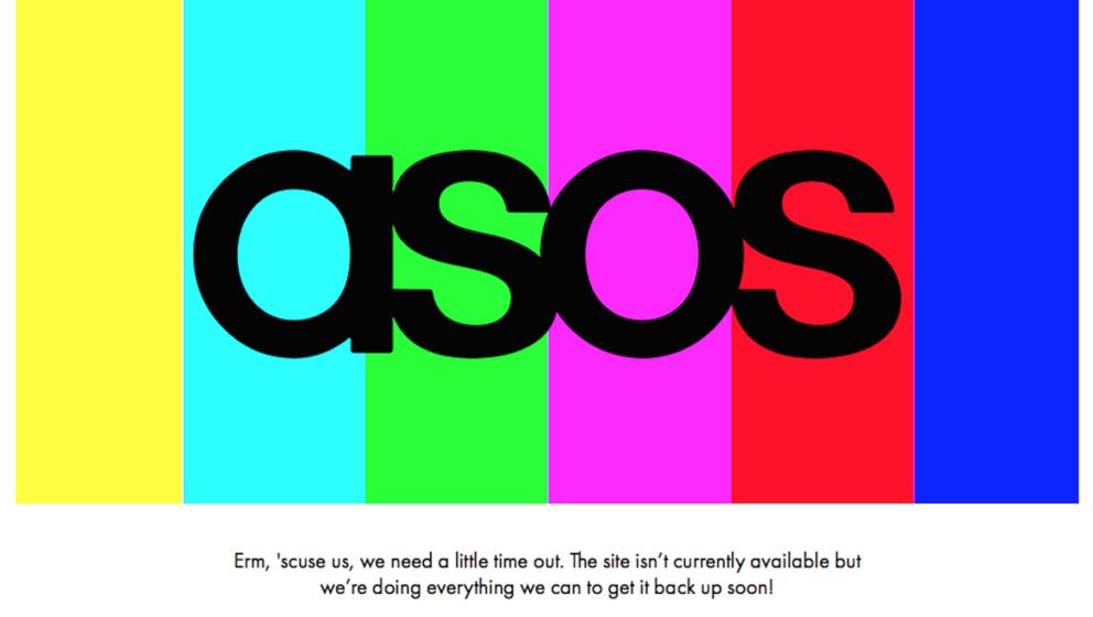 Seit Freitag Nacht ist die Website, der Online-Shop und die App des Klamotten-Shops ASOS nicht erreichbar.