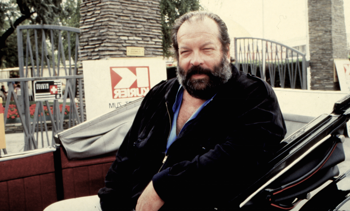 The italian actor Bud Spencer in Madrid, 1983. Madrid, Spain. (Photo by gianni Ferrari/Cover/Getty Images)